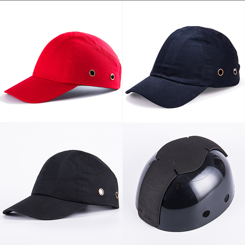 Men's Baseball Bump Cap Safety Hard Hat Head Protection Cap Adjustable Protective Hat casual letter c shape baseball hat