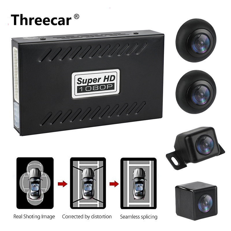 Panoramique Caméra De Recul 360 Degrés système De stationnement Auto Camera De voiture Toute vision nocturne Étanche caméra De Recul De Recul