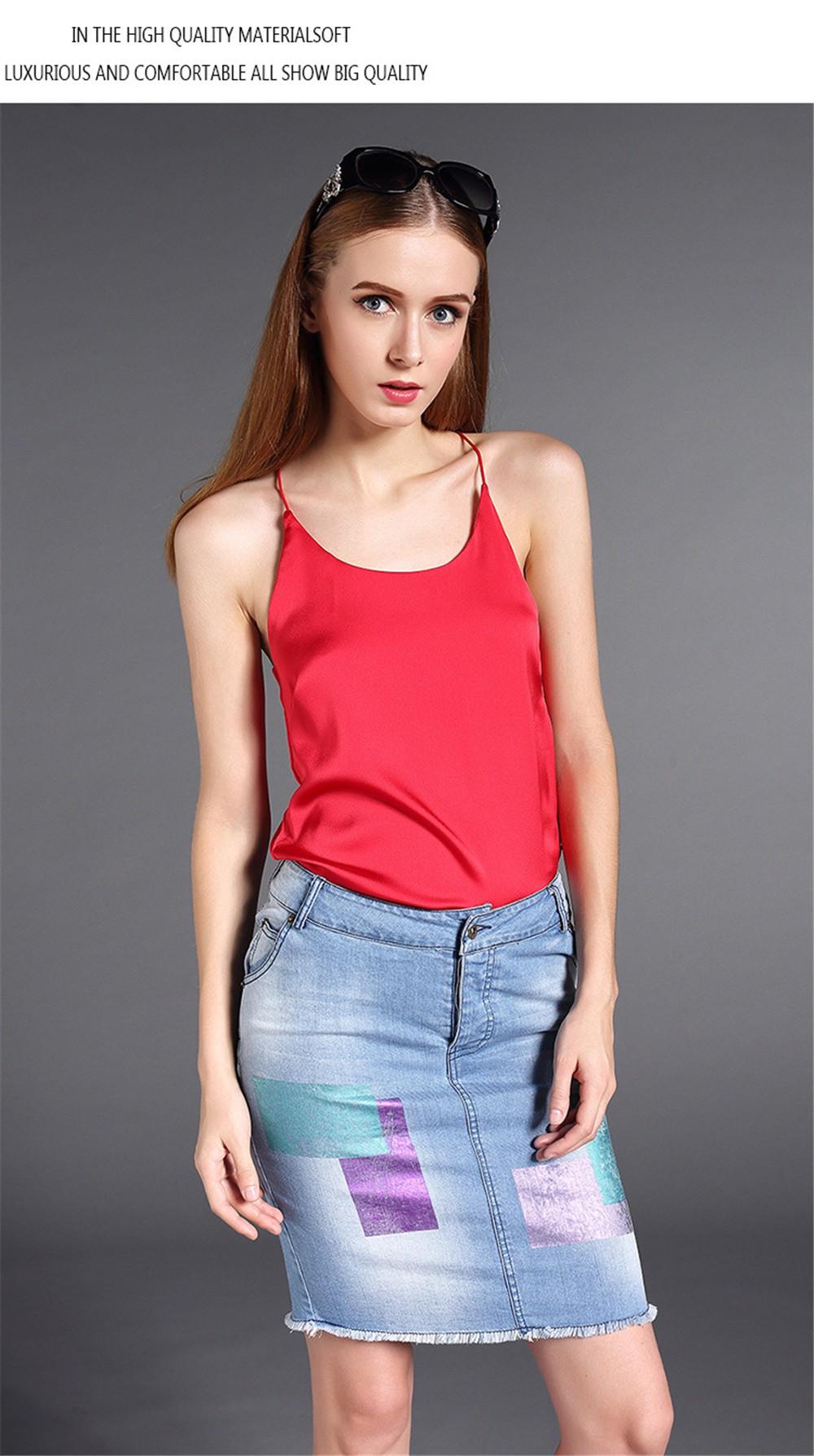 Plus Size S-4XL Multiple Women Tank Tops Brand Silk Blending Sleeveless Tshirt Women Female Shirt Smooth Blouse Blusas Femininas (14)