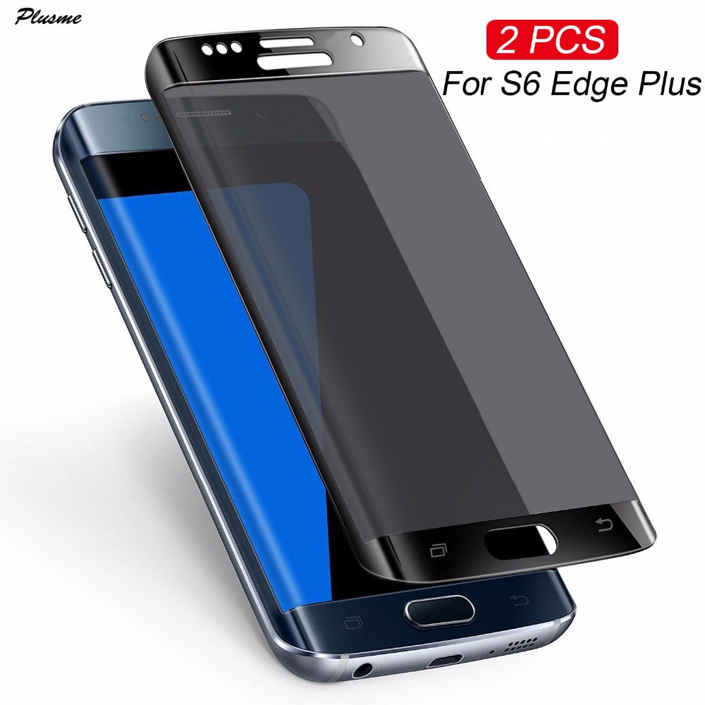 Plusme [2 PCS] For Samsung S6 Edge Plus Curved Tempered Glass 3D 9H Full Screen Protector Film For Samsung Galaxy S6 Edge Plus ...