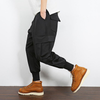 #2811 Black Harem Joggers Loose Large size Trousers Cargo pants for men Ankle length Sarouel Homme Casual Hip Hop Pants 5XL