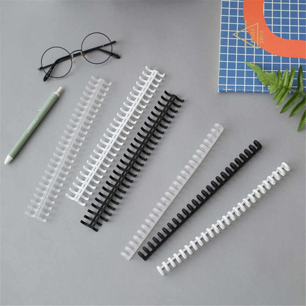 30 Lubang Baru Plastik Daun Longgar Pengikat Lingkaran Hinged Cincin Album Klip Kerajinan Kalender Ring Binder Meja Notebook Lingkaran