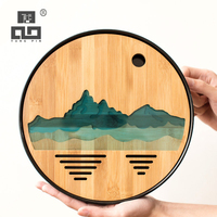 TANGPIN mountain plastics and bamboo tea trays tea board kung fu serving tray table accessories