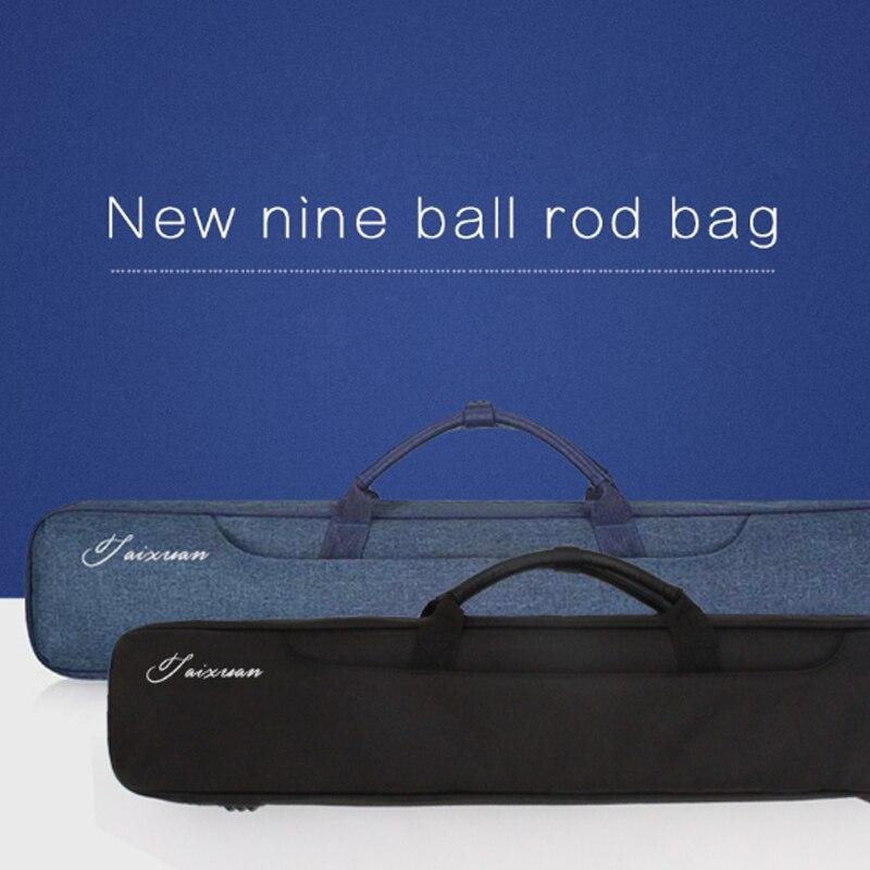 Cuppa 2 Butts 4 Shafts Soft PU Leather Pool Cue Case Billiard Accessories 80cm