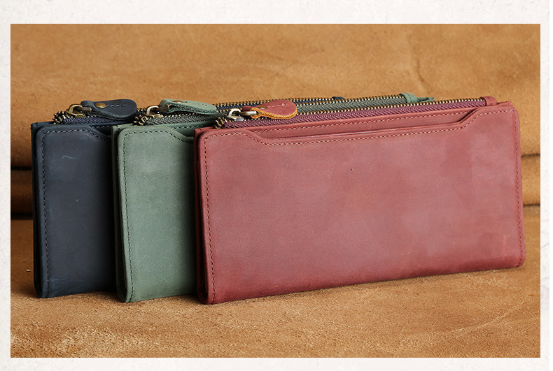 Wallet for Women Genuine Leather Purse Long day Clutch Red Wallet 2018 Coin Female Purse Phone Holder Zipper wallets bag