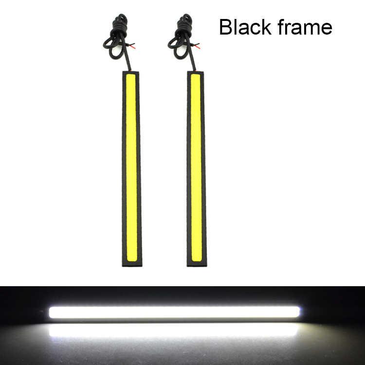 MOONBIFFY 1 Uds. Luces LED de circulación diurna Ultra brillantes cc 12V 17cm impermeable Auto coche DRL COB conducción antiniebla
