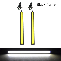 MOONBIFFY 1Pcs update Ultra Bright LED Daytime Running lights DC 12V 17cm Waterproof Auto Car DRL COB Driving Fog lamp