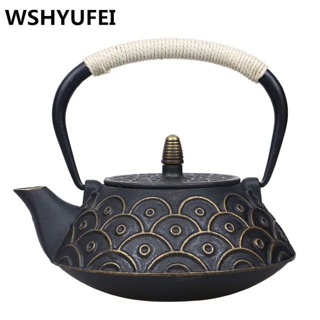 Iron Cast Uncoated Teakettle