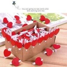 Любовник memo сердца симпатичный форме клипы деревянные цена офис клип красный