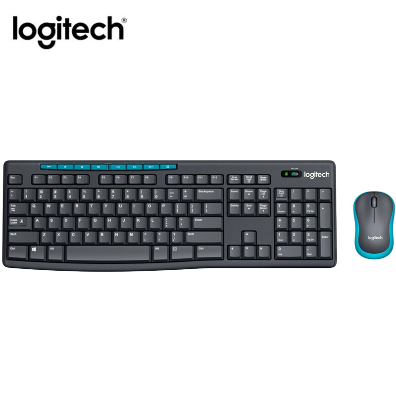 Logitech MK275 Wireless Keyboard Mouse Combo English waterproof Keypad LapTop Optical Ergonomics Office household