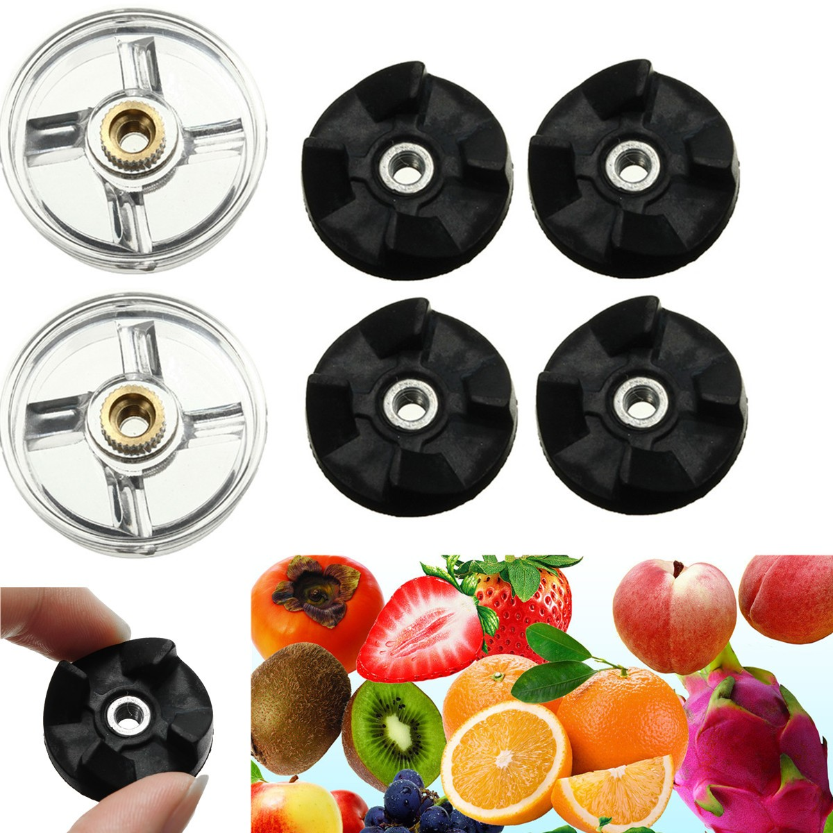 Replacement 2 Plastic Gear Base 4 Rubber Gear Blender Juicer Parts For Magic Bullet Spare Parts 6 replacement spare parts blender juicer parts 3 rubber gear 3 plastic gear base for magic bullet 900w 38