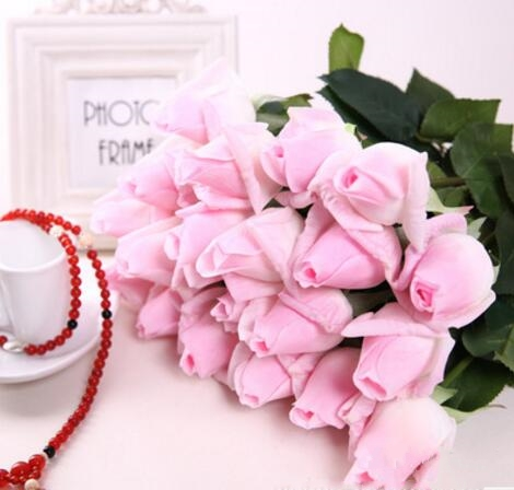30pcs baby pink real touch rose bud latex artificial flower home 30pcs baby pink real touch rose bud latex artificial flower home wedding party christmas decoration rose bouquet for valentine in artificial dried mightylinksfo