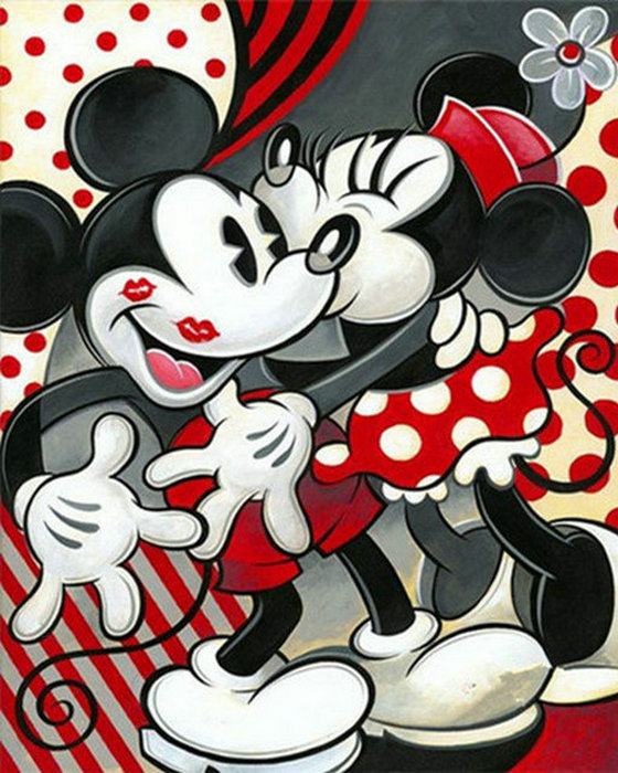 Full DIY 5D Diamond Mosaic picture Mickey mouse couple Diamond Painting Cross Stitch Kits Diamond Embroidery cartoon Patterns