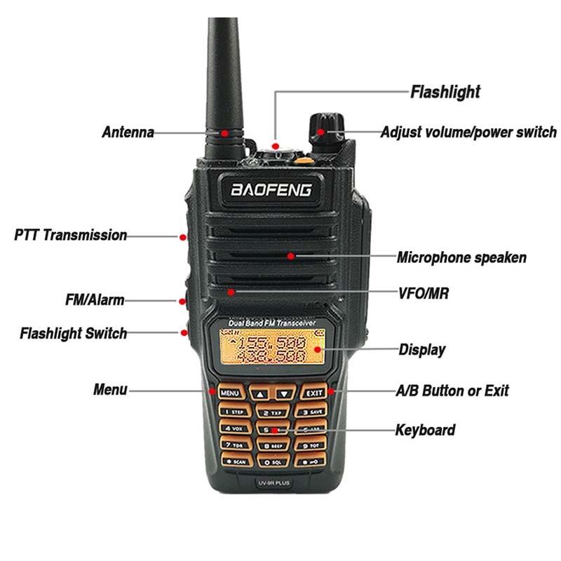 Image 2 - Baofeng UV 9R Plus 8W 2800mAh Walkie Talkie UHF VHF Radio Station IP67 Waterproof Baofeng UV 9R Two Way Radio UV9R Hunting Radio-in Walkie Talkie from Cellphones & Telecommunications