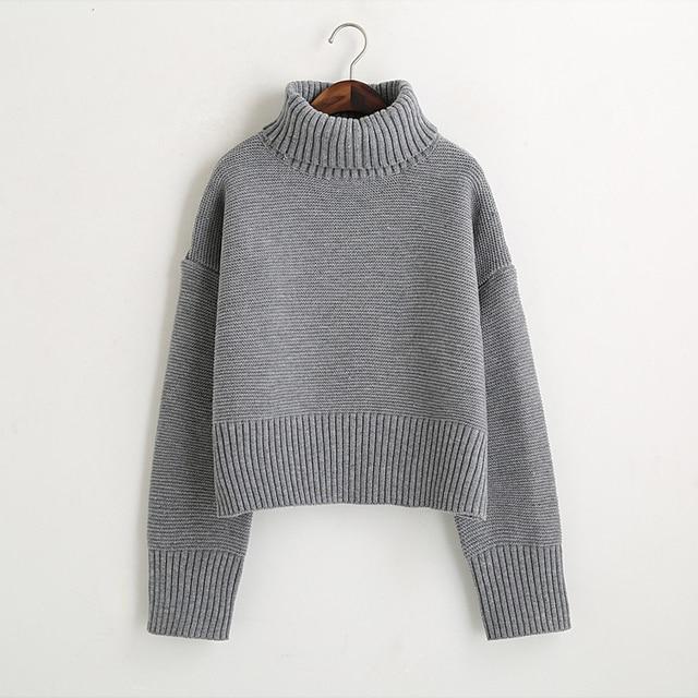 Turtleneck Sweater 2017 Women Vintage High Neck Wide Sleeve ...