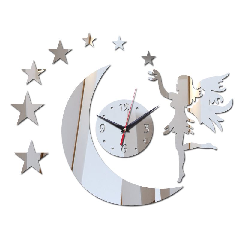 2017 new hot sale 3d acrylic wall clock promotion mirror for 3d acrylic mirror wall sticker clock decoration decor
