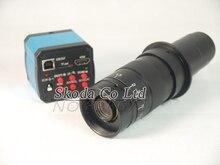 Buy online HD 14MP 720P HDMI USB Digital Industry Video Inspection Microscope Camera Set + 180X C-MOUNT Zoom Lens