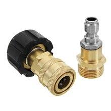 Cabezal de conector de conexión rápida para lavadora de alta presión, boquilla roscada M22