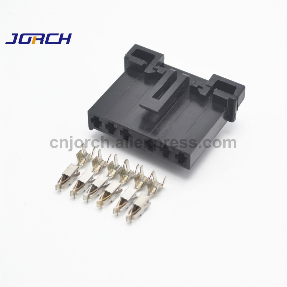 Freeshipping Electrical Plug Connector 5 Sets 6 Pin 2 8mm