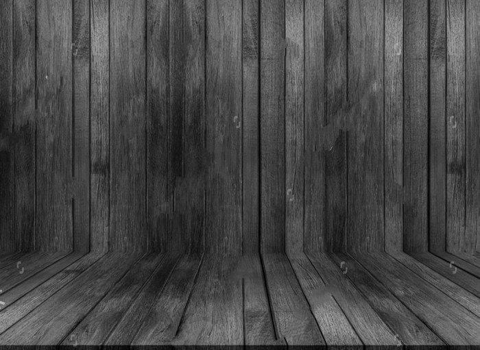 Black Wood Wall Texture Backdrop Vinyl Cloth High Quality