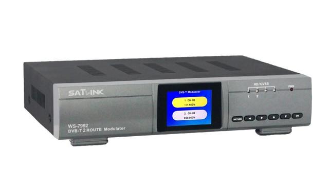Satlink WS 7992 2 Route DVB T Modulator AV HDMI Two Router DM 7992DVB HD Digital RF