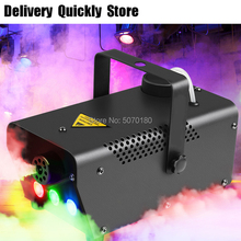 Good Effect 500W fog machine remote control with RGB led change color good use for disco Party DJ KTV Home entertainment цена 2017