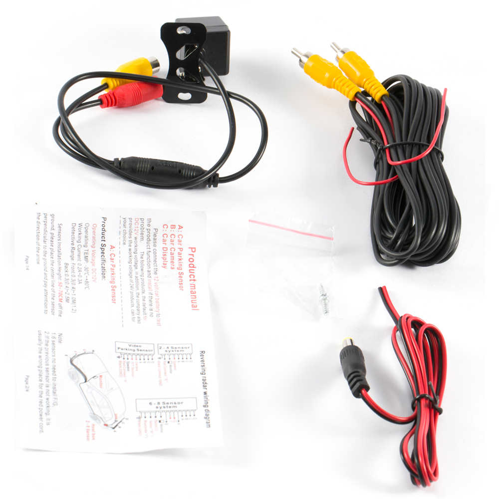 sinovcle car rear view camera reverse infrared camera advanced night  vision for parking monitor waterproof ccd