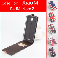 Painted Fashion Quality Original XiaoMi RedMi 3 Note 2 Leather Case Flip Cover For XiaoMi Red