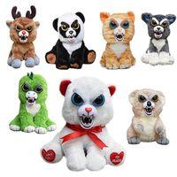 Feisty Pets Change Face Black Belt Bobby Panda Rabbit Bear Monkey Cat lion Stuffed&Animals Plush Toys Doll For Kids Baby Gifts