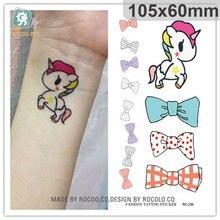 Water Transfer Tattoo cute cartoon dinosaur egg cat bird tattoo Waterproof Temporary fake Tattoo for man woman kid 10.5*6cm