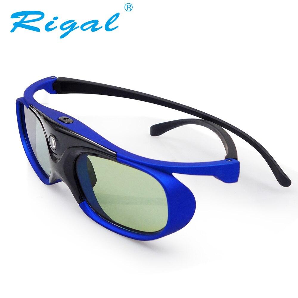 Rigal GS1000 3D Lunettes Actives DLP Projecteur 3D Lunettes Pour XGIMI Z3/Z4, noix G1/P2, BenQ, Optoma, Acer Projecteur