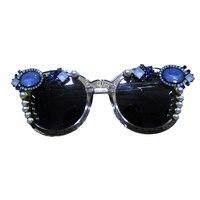2017 Oversize Cat Eye Sunglasses Women Brand Designer Luxury Crystal Decoration Sexy Sun Glasses For Ladies
