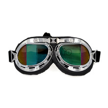 BJMOTO Motorcycle Motocross ATV Scooter Helmet glasses goggles Jet goggles Retro Vintage Pilot glasses Vintage Goggles(China)
