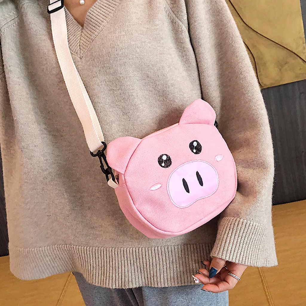 กระเป๋า 2019 หมูน่ารัก Crossbody กระเป๋าผู้หญิงบุคลิกภาพหมูขนาดเล็กกระเป๋าไหล่กระเป๋า Messenger