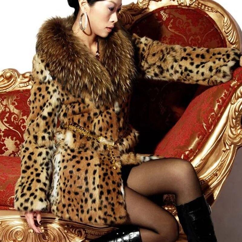 Leopard S Print Trench 2019 Épaisse Faux Fausse ~ Veste Taille D'hiver Fourrure 6xl En Léopard Manteau Femmes 653 Grande Vison Chaud Luxe coats Vestes Pardessus De ppq4wES