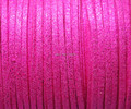 Free Shipp Metallic Hot Pink  3mm *1.5mm 10mters Flat Faux Suede Leather  Cord  for Jewellery Making and Crafts Beads