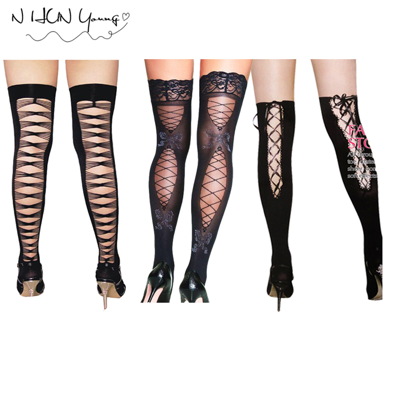 Women's Sexy Lingerie Hot Garters Fashion Thigh Belt Set Underwear Open Crotch Panties Stocking Top Thigh-Highs Erotic SW027