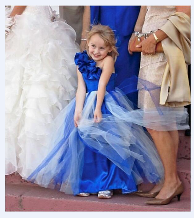 Girl's Pageant Princess Dresses 2017 Sleeveless Flower Girls Dresses Gauze Kids One SHoulder Long Dress Children Party Dress hot pink one shoulder ruched bust slit long party dress