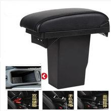 Para peugeot 2008 caixa de apoio braço + 3usb couro preto centro nova modificação caixa armazenamento 2012 2013 2014 2015 2016 2017 2018 2019