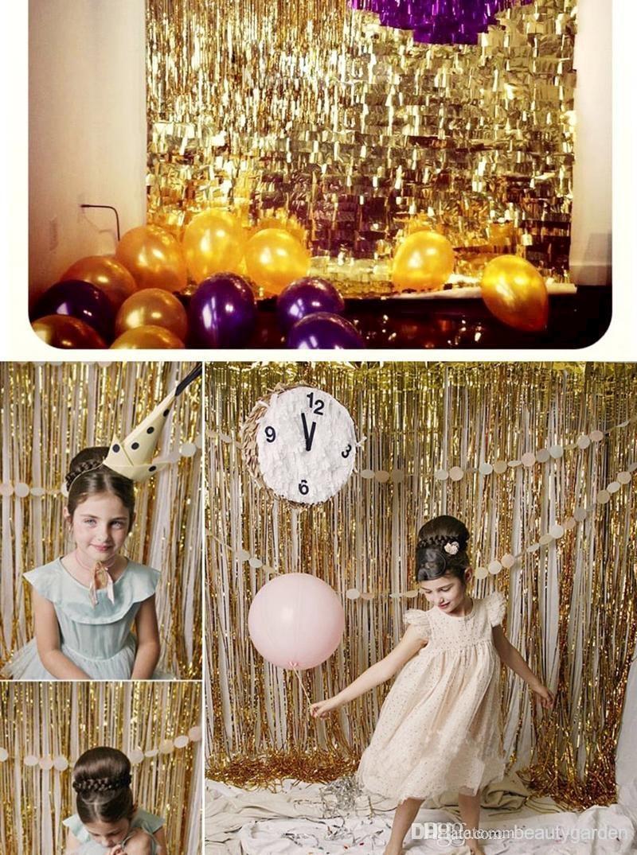 1m * 3m Tinsel Завеса Pub Pub Portiere Завеса за - Стоки за празници и партита - Снимка 4