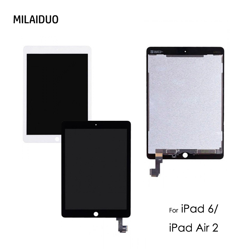 Original New A1567 A1566 LCD Digitizer Assembly For iPad 6 iPad Air 2 LCD Screen Assembly Display Touch Screen Replacement 100% original lcd for samsung galaxy ace 4 sm g357 g357 g357fz lcd display with touch screen digitizer assembly replacement