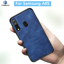 for Samsung Galaxy A8S Case Original PINWUYO VINTAGE PU Leather Protective Phone Case for Samsung A8S Shockproof Case стоимость