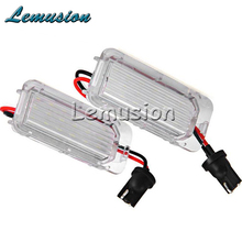 1Pair Car LED number License Plate Light 12V White SMD LED lamp Car Styling For Ford Focus 5D Mondeo Fiesta C-Max accessories