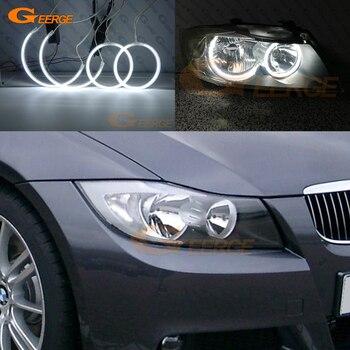 For BMW E90 E91 saloon touring 2005-2008 Halogen headlight perfect compatible Ultra bright illumination CCFL Angel Eyes kit 180sx led ヘッド ライト