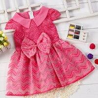Нарядное платье для маленьких девочек Пышная юбка для малышки детское платье одежда для детей детская брендовая модная новинка 2017 халат enfan...