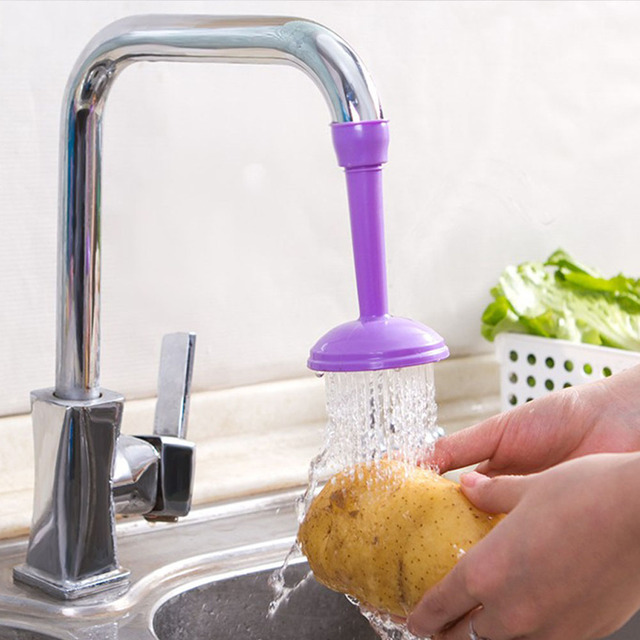 Kitchen Creative Water Saving Kitchen Faucet Sprayers Adjustable Tap Filter Nozzle Swivel Spout Faucet Bathroom Accessories