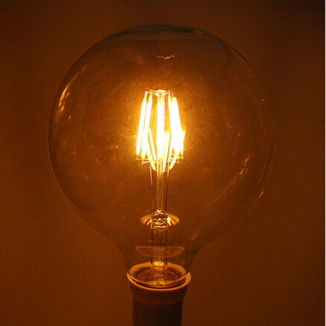 Светодиодные лампы e27 лампа e14 g125 8 Вт ac85-265v теплый белый свет накаливания blass мяч античная ретро винтаж edision