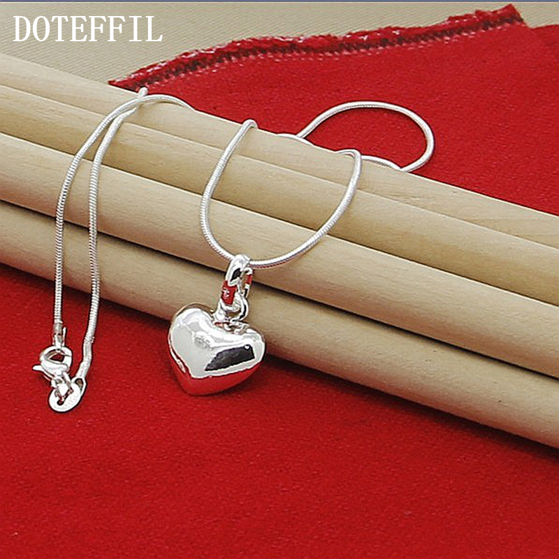 Grosir 925 Sterling Silver Kalung Fashion Perhiasan Jantung Liontin - Perhiasan fashion - Foto 2