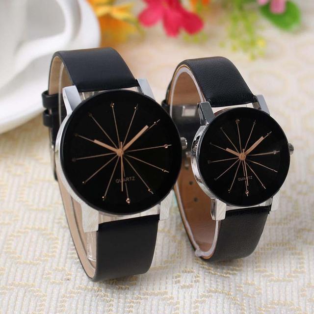 Fashion Casual Men/Women Analog Quartz Dial Hour Digital Watches Leather Wrist w