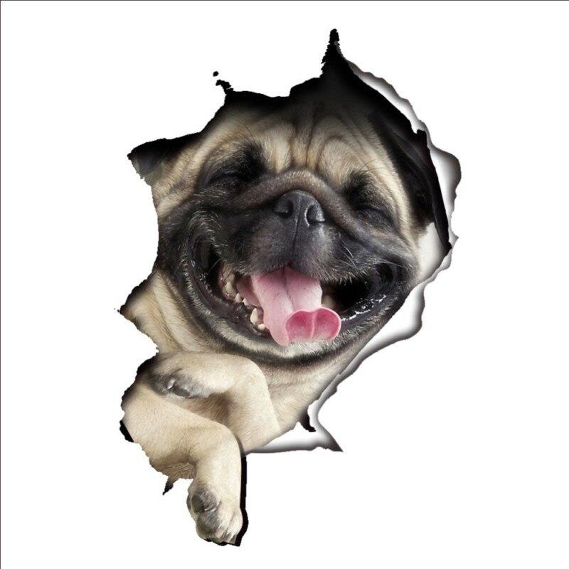 3D отверстие вид яркий собаки кошки стены Стикеры s Туалет Стикеры в ванную комнату украшения животных ПВХ Переводные картинки Книги по иску...